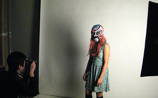 Students in the photo Studio