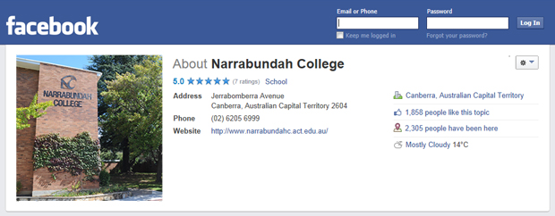 Narrabundah College on Facebook