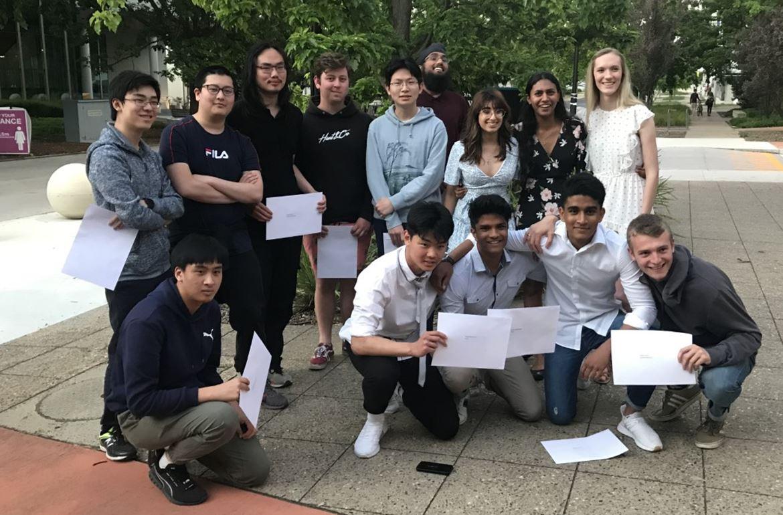 ANU Extension Graduands in Physics.