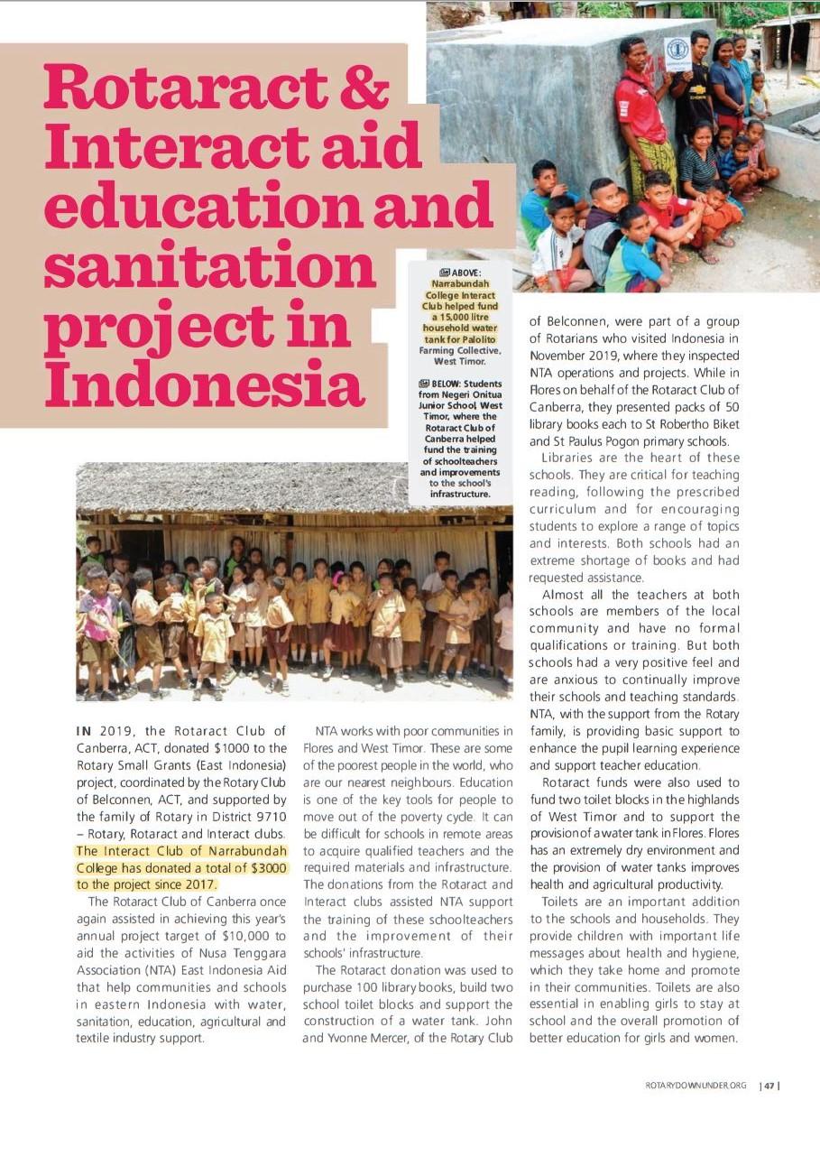 Rotary Magazine 2020