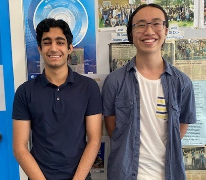 Akshat J and Tommy L joint IB duxes on 43 - ATAR equivalent - 99.55